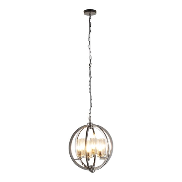 OVE Decors Sera Chrome Finish LED Integrated Chandelier