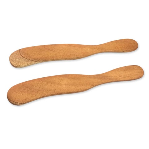 Handmade Set of 2 Cedar Wood 'Forest Sigh' Spreader Knives (Guatemala)