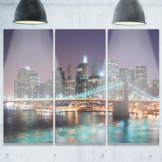 New York City Manhattan Skyscrapers - Cityscape Glossy Metal Wall Art - 36x28
