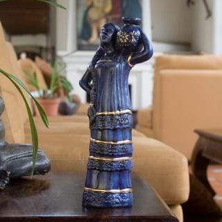 Handmade Ceramic 'Woman of the Coast' Sculpture (El Salvador)