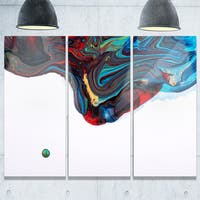 Multi-Color Abstract Acrylic Paint Mix - Abstract Glossy Metal Wall Art