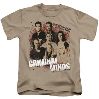 Criminal Minds/Solution Lies Within Short Sleeve Juvenile Graphic T-Shirt in Sand