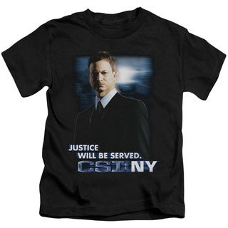 CSI:Ny/Justice Served Short Sleeve Juvenile Graphic T-Shirt in Black