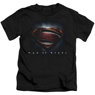 Man Of Steel/Man Of Steel Shield Short Sleeve Juvenile Graphic T-Shirt in Black