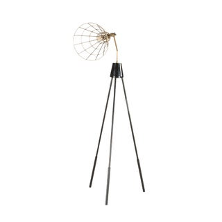 Nikola Abstract Photographers Tripod Floor Lamp - Black