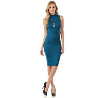 Women's Bodycon Rayon/Spandex Sleeveless Dress