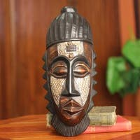 Handcrafted Sese Wood 'Just Reward' African Wall Mask (Ghana)