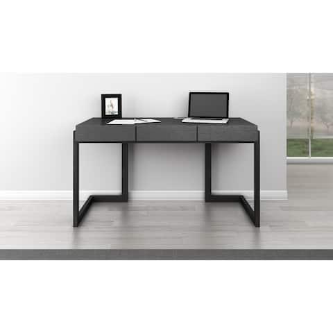 Furnitech Graphite 56-inch Italian Veneer Writing Desk