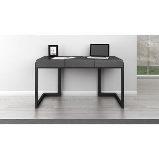 Furnitech Graphite 56-inch Italian Veneer Writing Desk