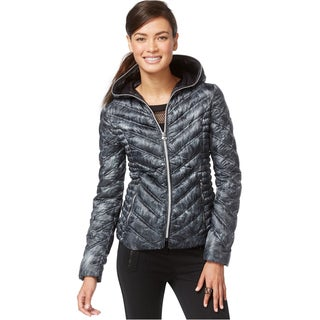 Laundry by Shelli Segal Grey Down Packable Coat