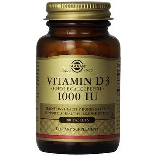 Solgar Vitamin D3 Cholecalciferol 1000 IU (180 Tablets)