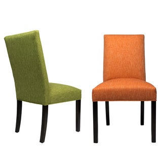 Sole Designs Key Largo Wood Upholstered Dining Chairs with Espresso Legs (Set of 2)