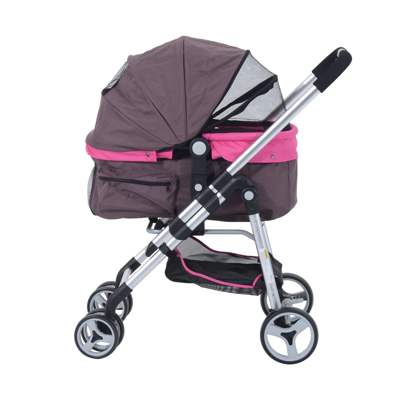Aosom Pawhut Four Wheel Cat/Dog Pet Stroller (Violet pet ...