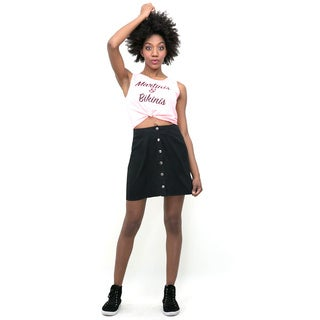 Hot Gal Polyester/ Spandex Snap-front Skirt