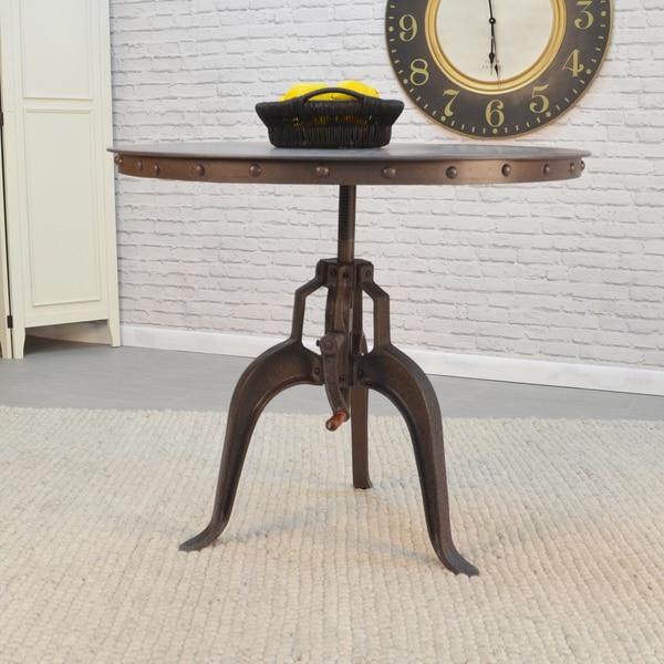 Anaya Grey Metal Adjustable Crank Table - Adjustable height - Adjustable height. Opens flyout.