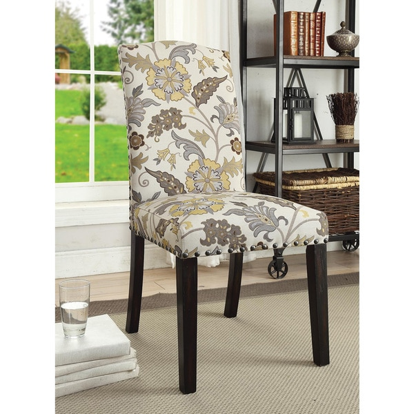 Floral Dining Room Chairs: Shop Coaster Company Floral Pattern Parson Dining Chair