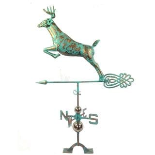 Urban Port Stainless Steel Copper-finished Deer Weather Vane