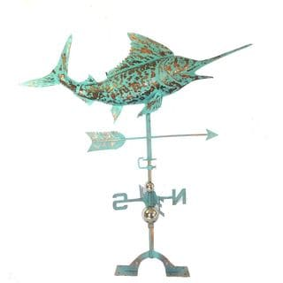 Benzara Urban Port Patina Steel Swordfish Weathervane