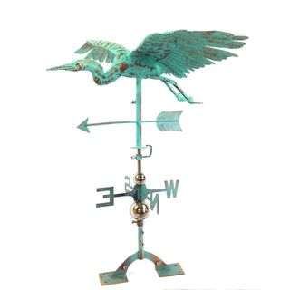 Benzara Urban Port Rustic Copper and Steel Bird Weather Vane