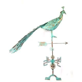 Antiqued Steel Peacock Weathervane by Urban Port
