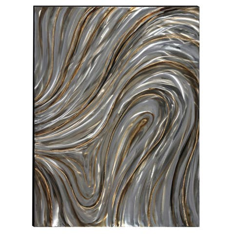 Swirls Hand-painted Aluminum Wood Wall Art Decor by Urban Port