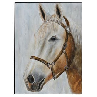 Urban Port 'Horse' Hand Painted Wood Wall Art Decor