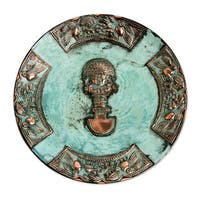 Handmade Copper 'Ceremonial Blade' Decorative Plate (Peru)