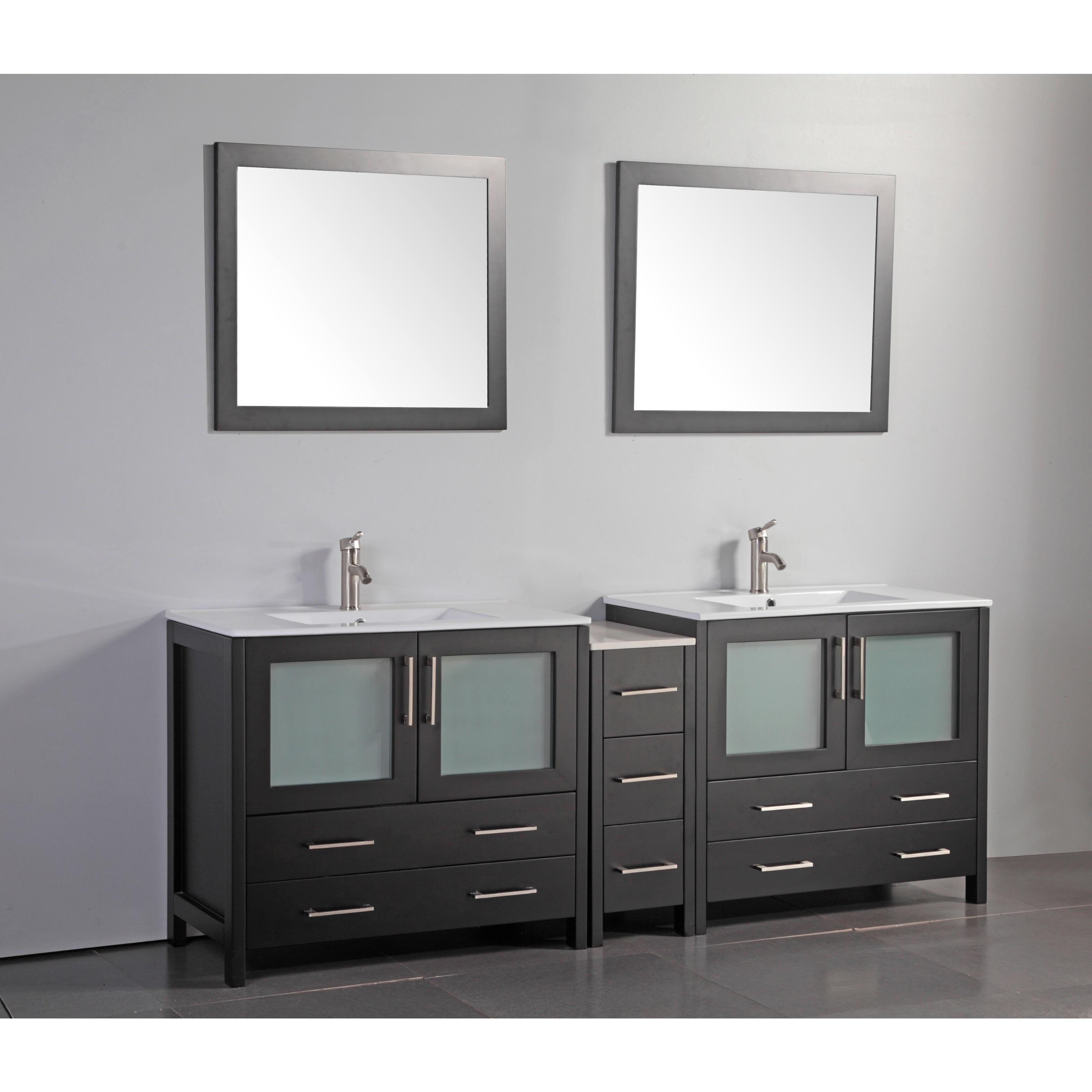 84 inch vanity top double sink. Vanity Art 84 inch Double sink Bathroom Set with C  vanity top double Compare Prices at Nextag