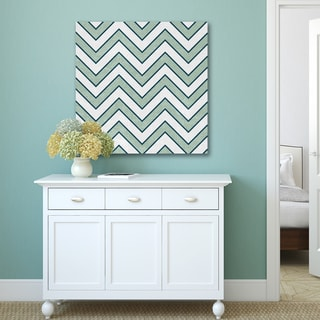 Portfolio Canvas Decor IHD Studio 'Green & White Chevron' Canvas Print Wall Art