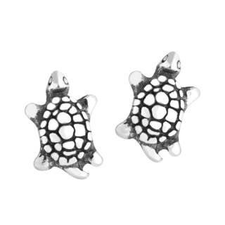Sterling Silver Turtle Earrings