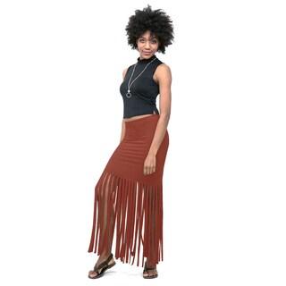 Hot Gal Polyester Fringe Skirt