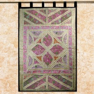 Handcrafted Cotton 'Lavish Lavender' Wall Hanging (India)