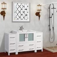 Shop Silkroad Exclusive 53.5-inch Contemporary Bathroom ...