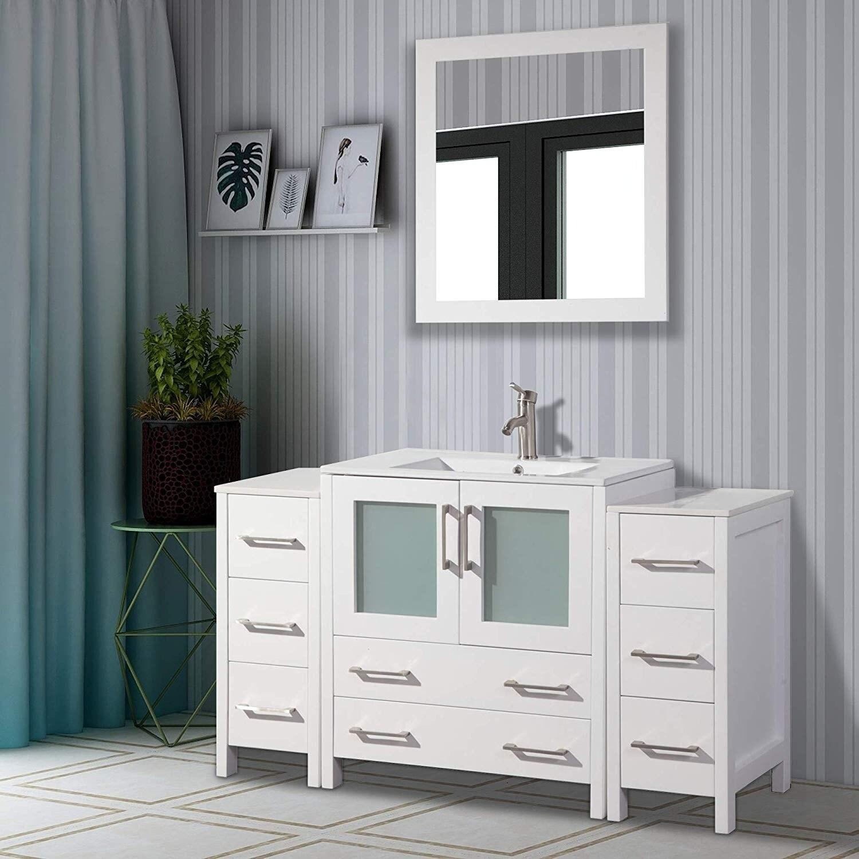 Vanity Art 54-Inch Single Sink Bathroom Vanity Set 8 | eBay