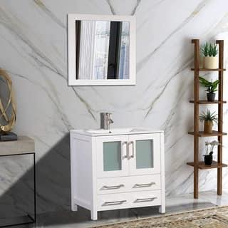 vanity art wood ceramic 30 inch single sink bathroom vanity set - Bathroom Vanity 30 Inch