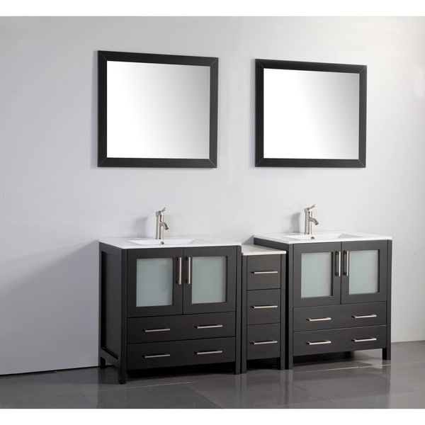 Shop vanity art 72 inch double sink bathroom vanity set - 72 inch single sink bathroom vanity ...