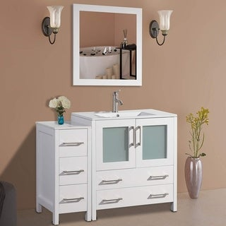 Vanity Art 42-inch Single-sink Bathroom Vanity Set with Ceramic Top