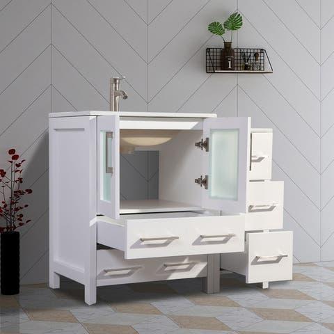 Vanity Art 42-Inch Single Sink Complete Bathroom Vanity Set