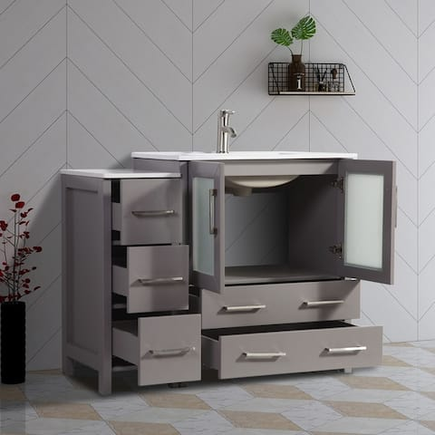 Buy Grey 42 Inch Bathroom Vanities Amp Vanity Cabinets