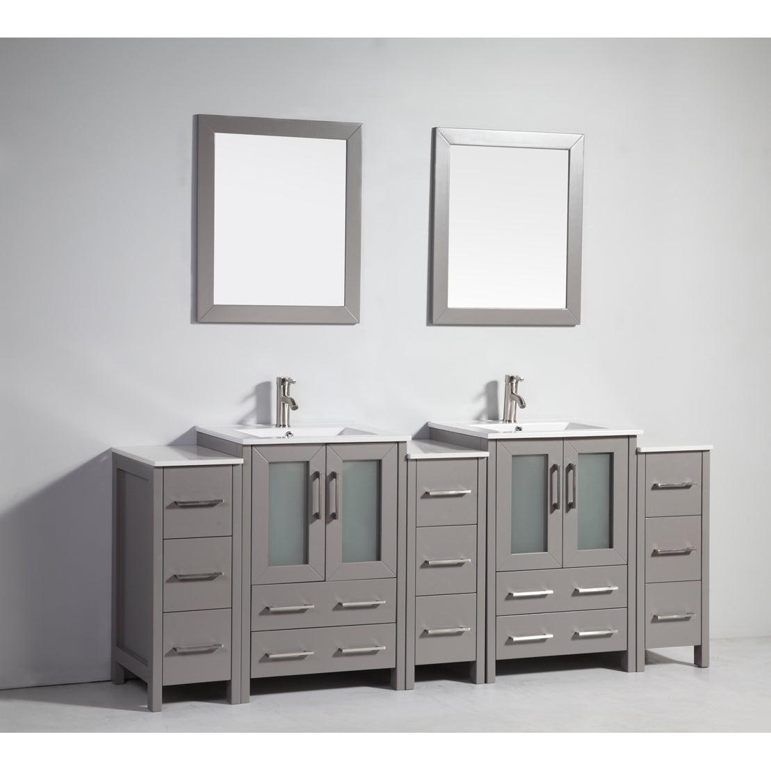 Vanity Art 84-Inch Double Sink Bathroom Vanity Set 13 | eBay