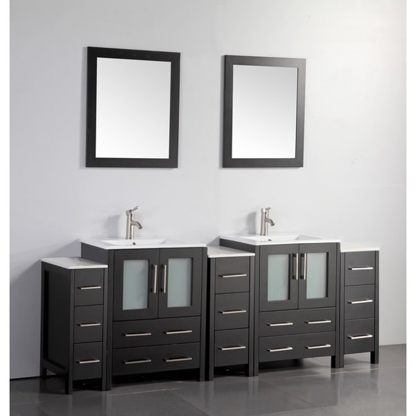 Vanity Art 84 Inch Double Sink Bathroom Vanity Set With Ceramic Top Free Shipping Today