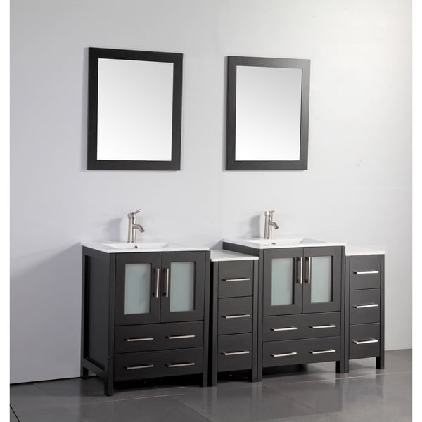 Outstanding Shop Vanity Art Oak 72 Inch Double Sink Ceramic Top Bathroom Beutiful Home Inspiration Truamahrainfo