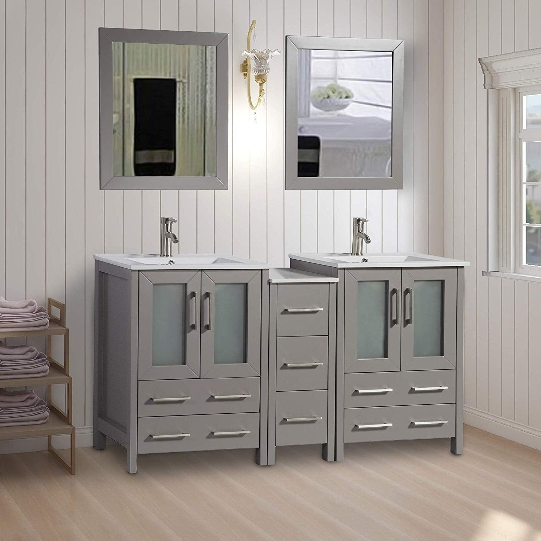Vanity Art 60-Inch Double Sink Bathroom Vanity Set 7   eBay