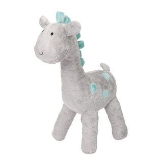 The Peanut Shell Uptown Giraffe Grey Polyester Plush Toy