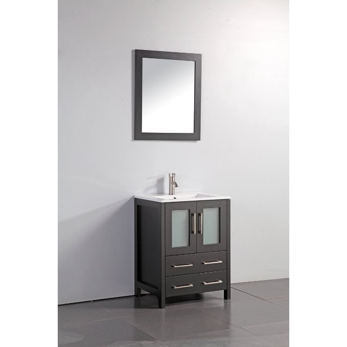 modern espresso vanity or shipping frosted vanities w doors glass charlton clear counter free esp bathroom with