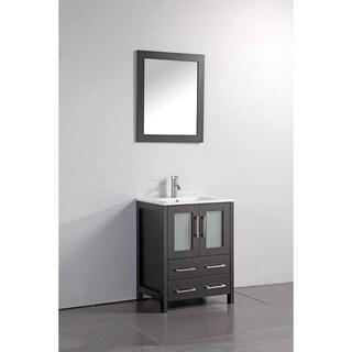 Vanity Art Oak 24-inch Single Sink Ceramic Top Bathroom Vanity Set (3 options available)