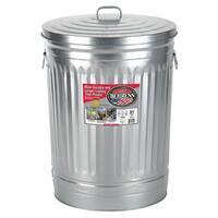 Behrens High Grade Steel 1270 31 Gal Silver Galvanized Steel Trash Can W/Lid