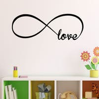 Vinyl Love Infinity Symbol Wall Decal