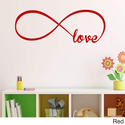 Vinyl Love Infinity Symbol Wall Decal