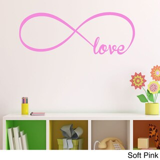 Vinyl Love Infinity Symbol Wall Decal (Option: Black)